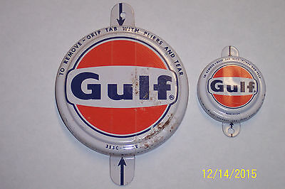 Vintage Gulf Metal Caps For Drums Never Used