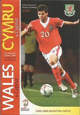 WALES v CYPRUS 11th October 2006 (Euro 2008 Qualifier)