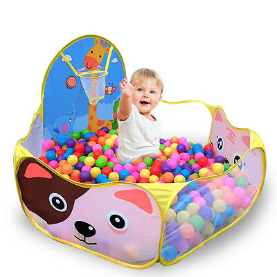 Cartoon Kids Play Tents Safety Toy House Baby Playpens Ocean Ball Pool With Ball