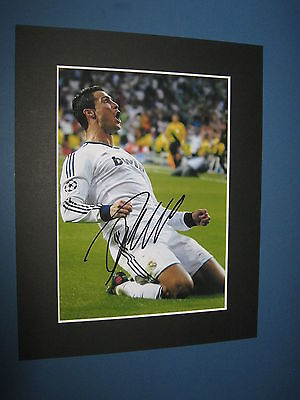 Cristiano Ronaldo Real Madrid Signed Pre Printed Manchester United