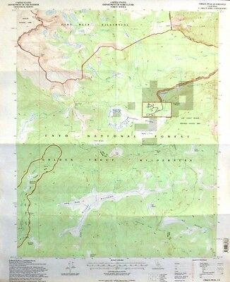 USGS 7.5 MINUTE TOPOGRAPHIC MAP - CIRQUE PEAK QUADRANGLE - 1994 - Mt. Whitney