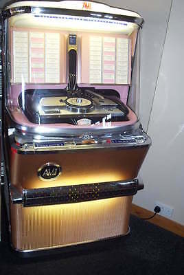 "VERY NICE FULLY WORKING 1957 AMI H100 ""TAMLA MOTOWN"" JUKEBOX COMPLETE WITH 45s"