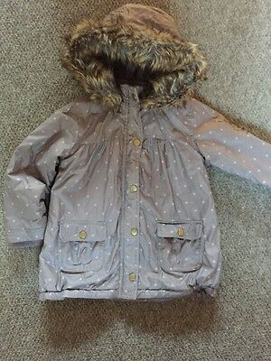 Girls Lilac Vertbaudet Coat Age 4