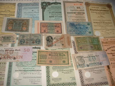 Original Germany 10 War Bonds  And 10 Banknotes As Seen In Pictures
