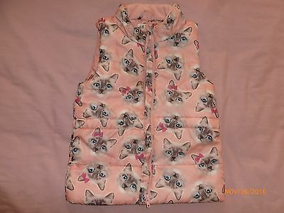 Next Girls Sleeveless Cats  Jacket Size 7-8 Y