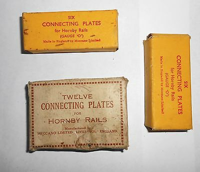 24 x Hornby rail connecting plates with boxes vintage O gauge