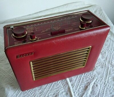 Hacker RP37A FM Radio In Red, Vintage, Retro And Restored.