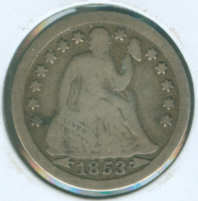 1853 Arrows Liberty Seated Dime (1620515)