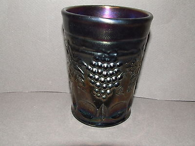 Carnival Glass Tumbler Antique Vintage Northwood Amethyst Grape And Cable (Cg28)