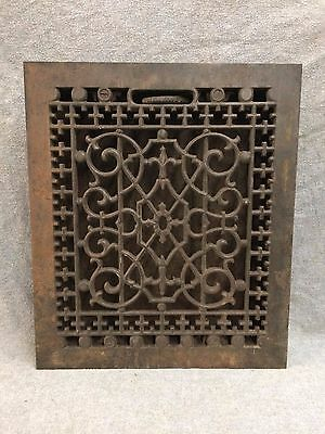 Antique Cast Iron Heat Grate Vent Register Old Decorative Vintage 10x12 2159-16
