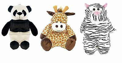 Childrens Kids Animal Hot Water Bottle & Cover Soft Plush Design Cuddly