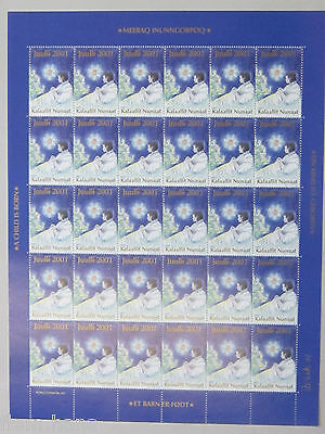 Greenland Christmas Stamps Seal Caritas 2001 MNH UNFOLDED