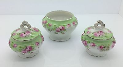(W21) Set of 3 Limoges Small Trinket Pots, 2 with Lids