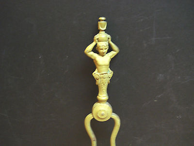 Antique Art Nouveau Fireplace Poker/tongs