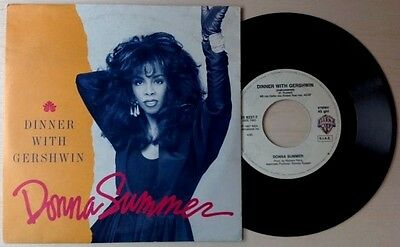"""DONNA SUMMER / DINNER WITH GERSHWIN - 7"""" (Italy 1987)"""