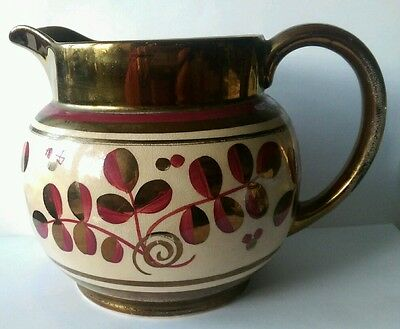 wade heath copper lustre hand painted jug