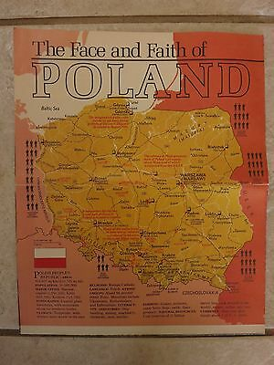 National Geographic April1982 Supplement Map Poland (Map Only)