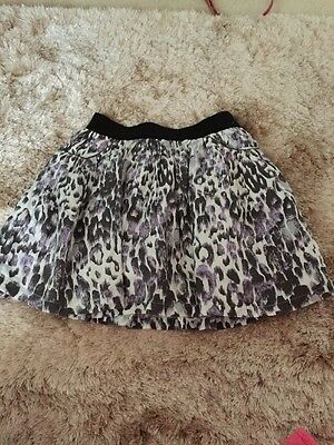 Pretty Purple Animal Print Skirt With Pockets Age 6-7