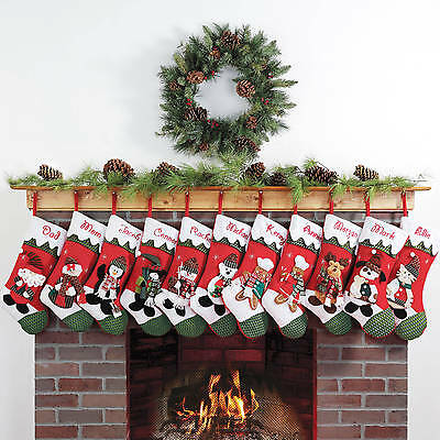 Personalized Snow Cap Christmas Stocking | character: Santa Claus