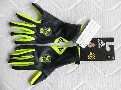 M or L REAL MADRID FIELD PLAYER GLOVES football soccer calcio NEW TAGS spain