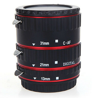 TTL Auto Focus AF Macro Extension Tube Ring for EF EF-S Canon lenses Red SP