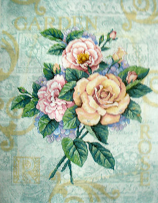 Dimensions Completed Counted Cross Stitch Tapestry Unframed Rose Garden Cuttings