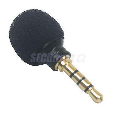 3.5mm Mini Black Stereo Microphone Mic for Smartphone Mobile Phone Recording