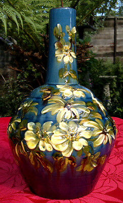 """Rare Antique Arts & Crafts Impasto Faience Exeter Art Pottery Vase 9.5"""" Tall"""