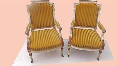 TWO FRENCH LOUIS XlV ARMCHAIRS