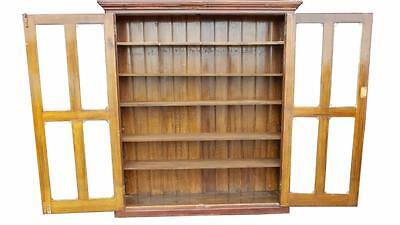 Large Old School Pine Bookcase Linen Cupboard-