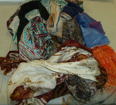 Lot of old scarves and headbands