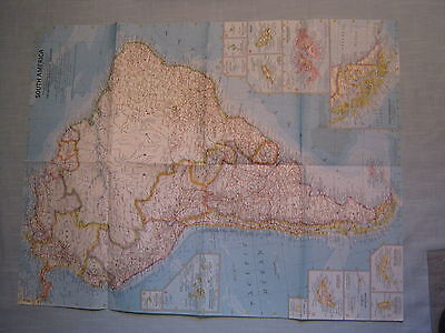VINTAGE SOUTH AMERICA WALL MAP National Geographic February 1960 MINT