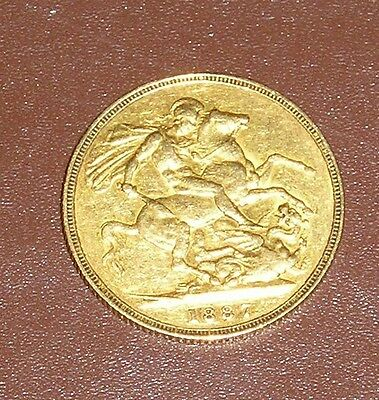 1887 Gold Sovereign Victoria Jubilee Head St George London Mint