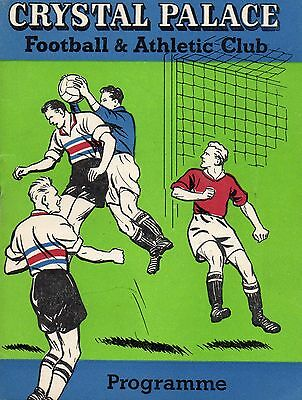 1961 Crystal Palace V Southend United-Utd Football League Division 4 Programme