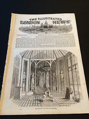 """Original """"The Illustrated London News"""" Saturday July 25th 1857 (24 Pages)"""