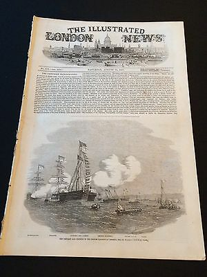 """Original """"The Illustrated London News"""" Saturday 15th August 1857 (32 Pages)"""
