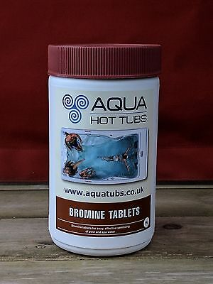 Aquasparkle 1kg Bromine Tablets for Hot Tub Spa Swimming Pool Chemicals