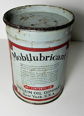 OLD MOBILUBRICANT VACUUM GREASE MOBIL OIL 1 lb CAN