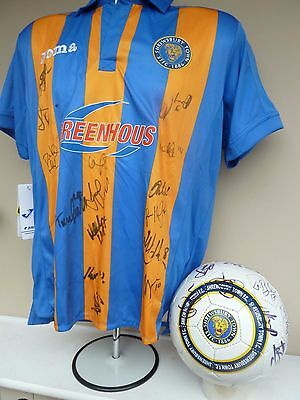 Shrewsbury Town Fc Signed Shirt + Football - 2011/12 Promotion From League 2