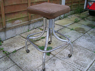 Vintage Industrial Stool / Draughtsman / Architects / Machinists