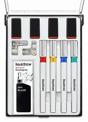 Liquidraw Technical Drawing Pen Set of 4 College Set