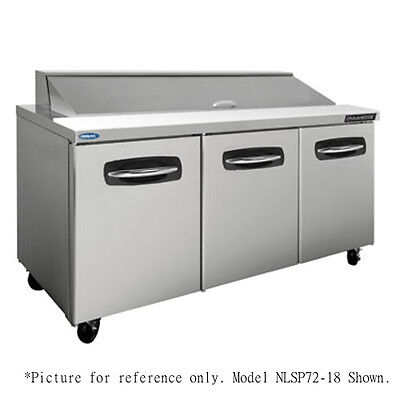 "Norlake NLSP72-18-003 72.38"" Sandwich/Salad Refrigerated Counter- Drawers/Doors"