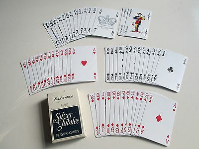 Waddingtons Queen Elizabeth Ii Silver Jubilee Playing Cards Complete Boxed Vgc