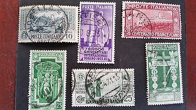 Italy, several used stamps issued  between 1863 & 1941, low prices