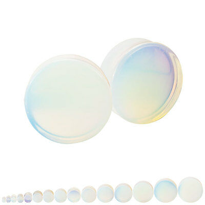 Opalite Double Flared Ear Plugs Pair