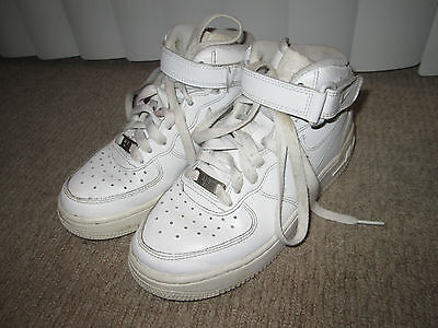 Nike White Leather Air Force 1 314195 113 Hi Trainers Size 3 Uk, 35.5 Eur