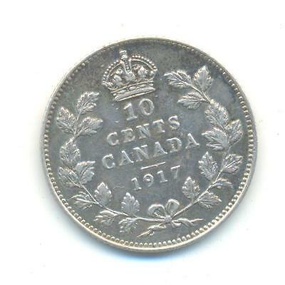 Very Nice Rare.canada.10.cents 1917.in Silver.very Collectable.z.24