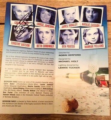 Genuine hand signed by Colin Baker double sided theatre flyer autograph Dr Who