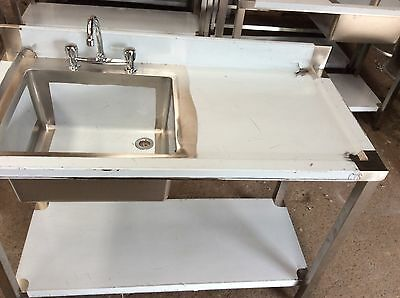 Commercial/catering Right Hand Single Bowl Stainless Steel Sink