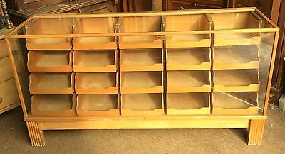 Haberdashery cabinet vintage multi draw good order for age shop fitting
